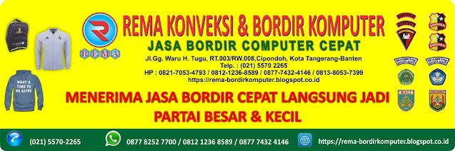 Jasa Bordir Komputer dengan hasil yang berkualitas, Hubungi 0813 8053 7399