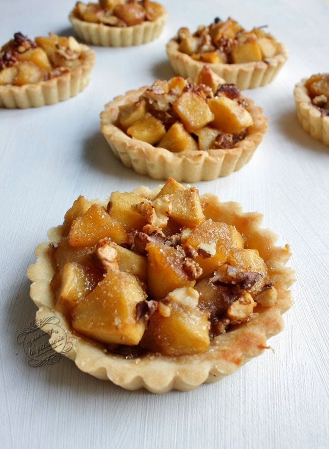 tartelettes pommes poire noix