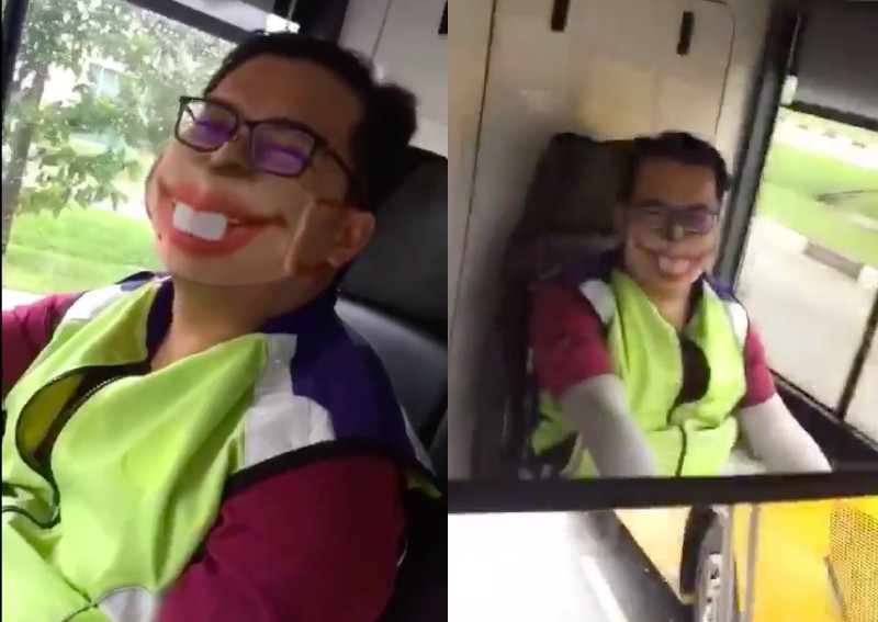 This made my day: Bus captain's wacky mask delights passengers during CB, posted on Monday, 27 April 2020