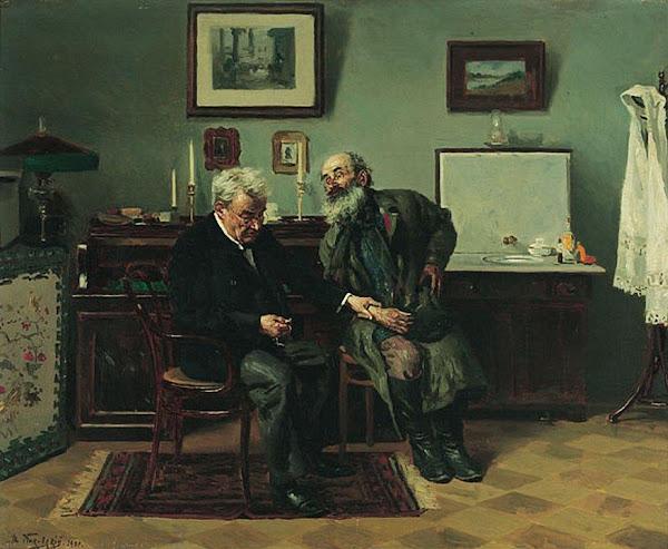 Маковский Владимир Егорович - На приеме у врача. 1900