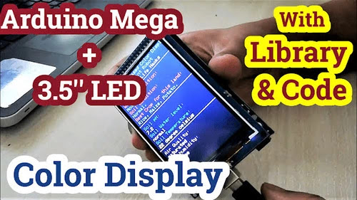Arduino Mega TFT LCD 480x320 Color Display shield