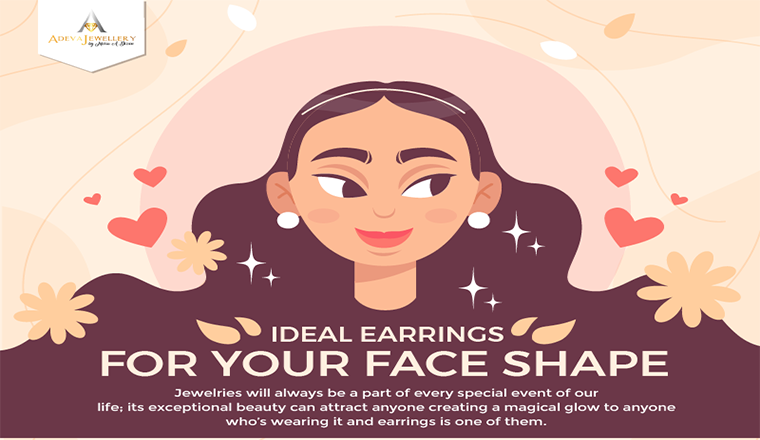 Ideal Earrings for Your Face Shape #infographic