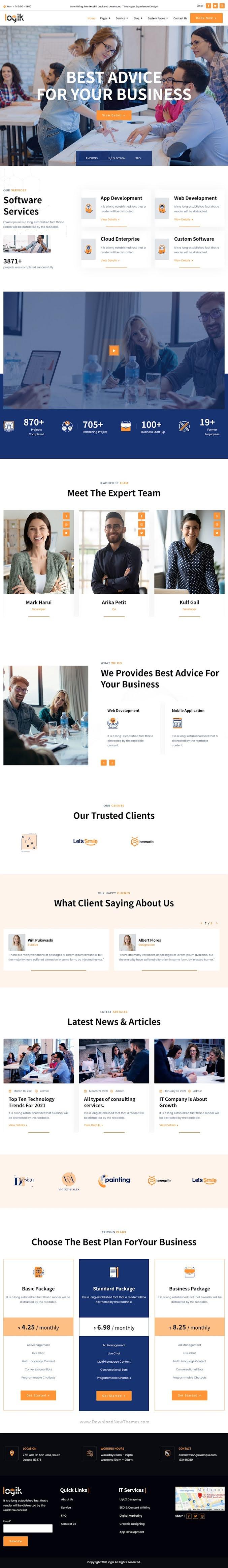 Logik IT Solutions & Technology HubSpot Theme