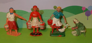 Auburn Rubber; Britains Copies; Britains Farm; Britains Poultry; Bucket Carrier; Charbens Toy Farm; Crescent Farm People; Farm and Zoo; Farm Hand; Farm Toys; Farm Worger Toy; Farmer feeding; Farmer's Wife; Farming Figures & Animals; Female Farm Figure; Herald Hong Kong; Hilco Plastic Farm Girl; Hong Kong Plastic Toy; Made in Hong Kong; Ohio Arts; PVC Vinyl Figures; PVC Vinyl Rubber; Small Scale World; smallscaleworld.blogspot.com; Timpo Solid Farm; Timpo Swoppets; Timpo Toys;
