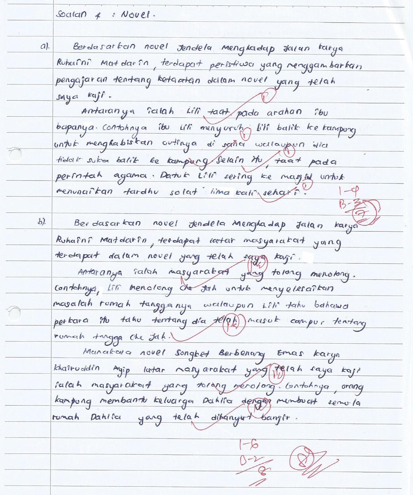 Laman Bahasa Melayu SPM: SEMAKAN SOALAN 4 (A) DAN 4(B