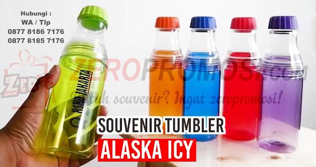 Tumbler Botol Minum Alaska ICY, Tumbler Plastik Alaska ICY Hydration Water Bottle, Souvenir botol Minum warna warni 600 ml