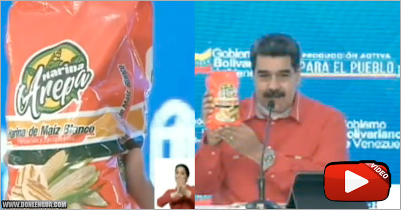 Maduro presenta nueva marca de Harina de Maíz par a que tampoco exista en los anaqueles
