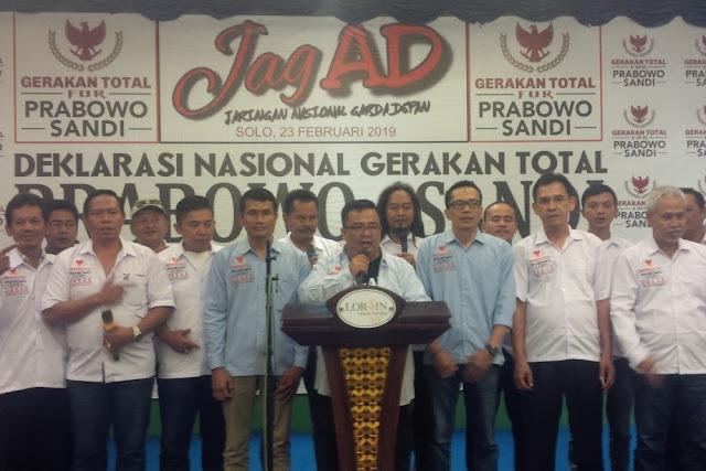 Gatot Nurmantyo Dukung Prabowo-Sandi, Relawan JAGAD: 01 Pasti Tumbang
