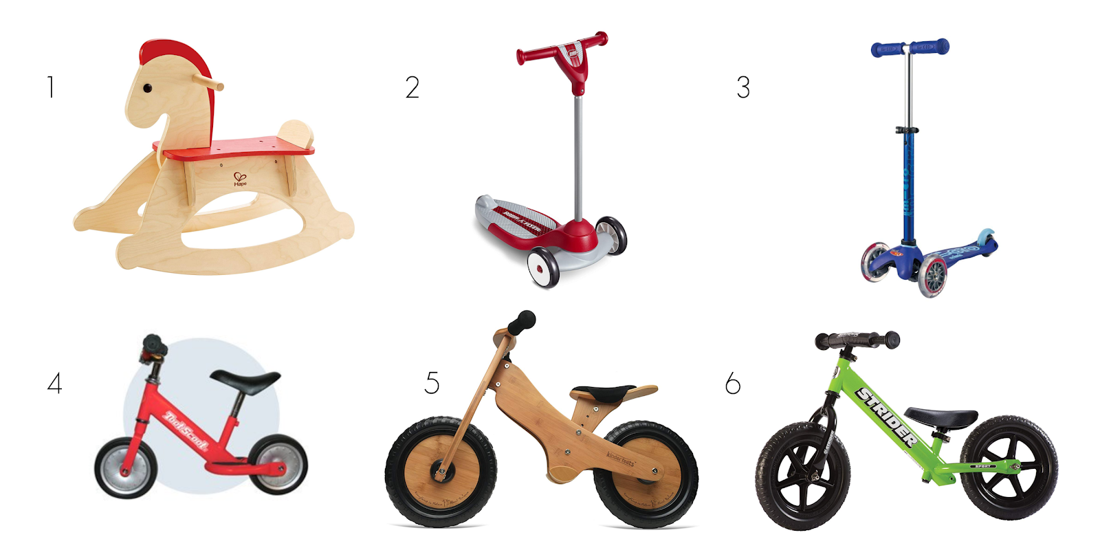 Montessori friendly scooter and ride on options for toddlers