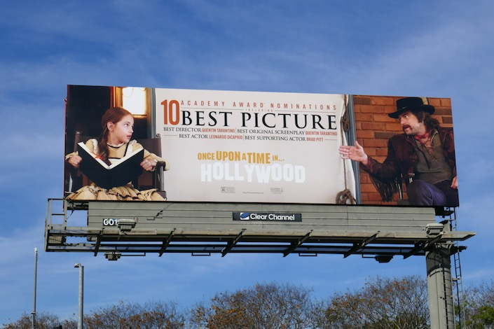 Once Upon a Time in Hollywood 10 Oscar nominations billboard