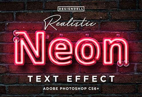 موك أب تأثير النيون Neon Txt |  طريقة إضافة تأثير الإضاءة نيون على تصميمات الحروف والكلمات بالفوتوشوب