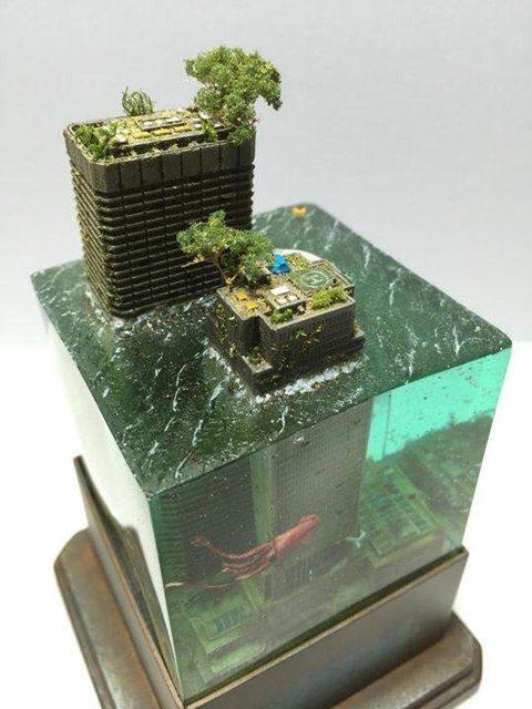 Kgk Gardening Landscape: Super Punch: Flooded City Diorama
