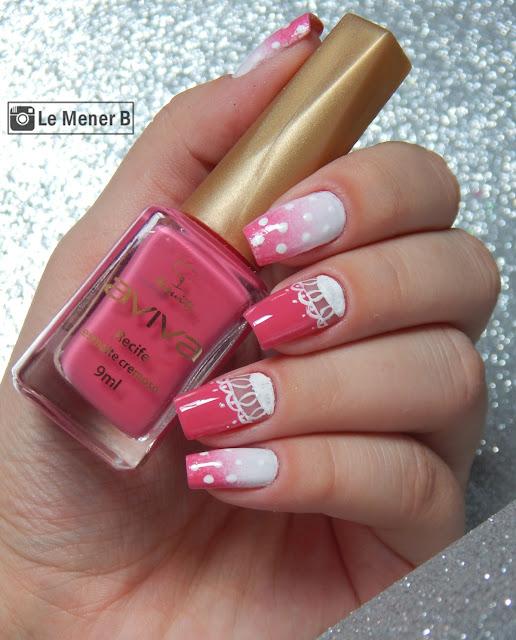 unha decorada rosa