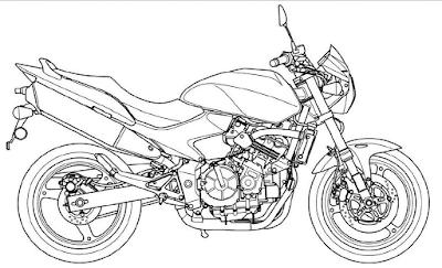 Gambar mewarnai sepeda motor - 3