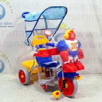 family robot pesawat sepeda roda tiga