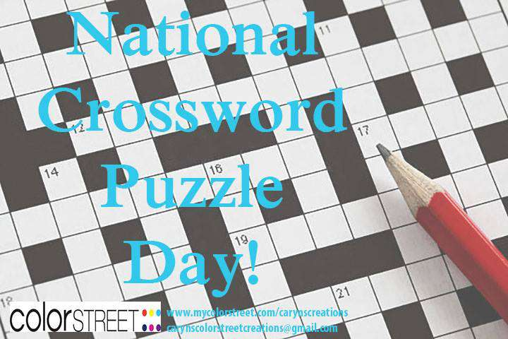 National Crossword Puzzle Day Wishes Photos
