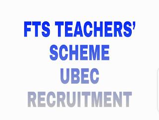 FTS TEACHERS' SCHEME UBEC RECRUITMENT FOR 2020/2021 SERVICE PERIOD