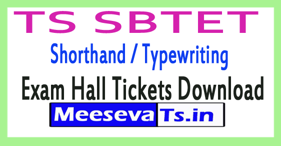 TS SBTET Shorthand / Typewriting Exam Hall Tickets Download