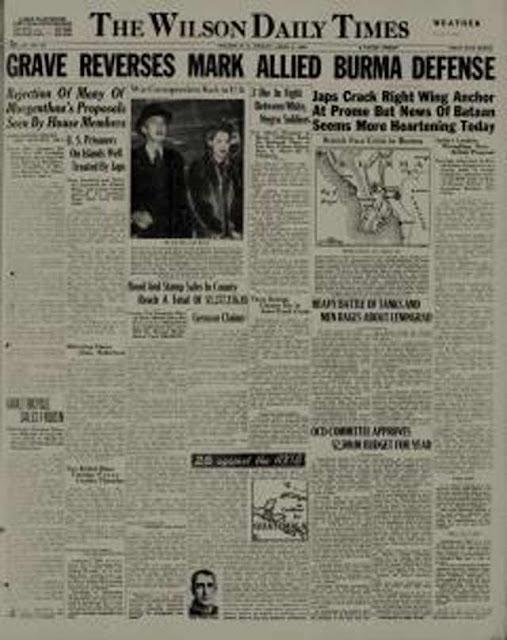 Wilson NC Daily Times, 3 April 1942 worldwartwo.filminspector.com