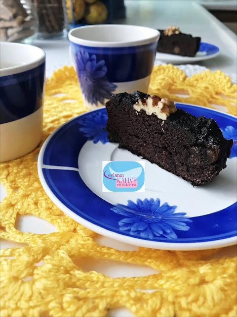 hindistancevizi unlu muzlu kakaolu kek, kakaolu kek, glutensiz muzlu kakaolu kek, şekersiz kek tarifi