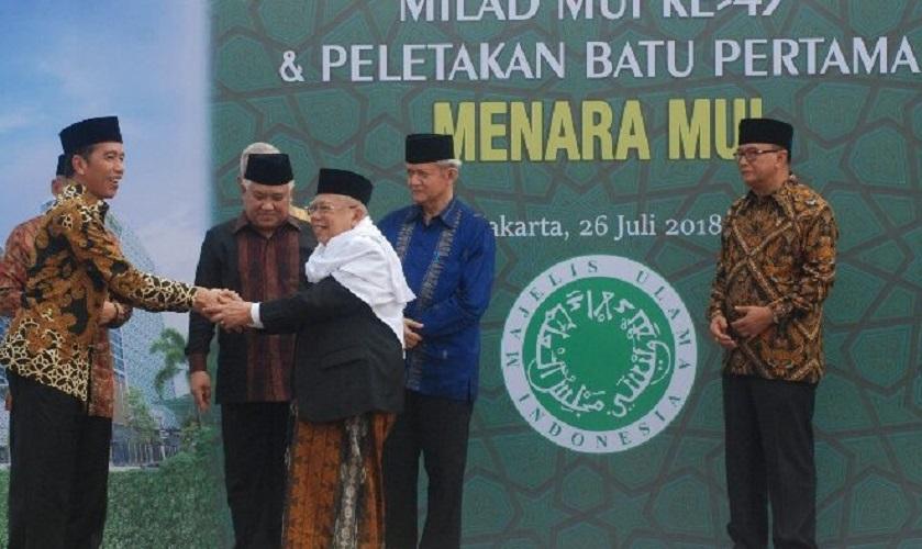 Jokowi dan Kiai Maruf Amin
