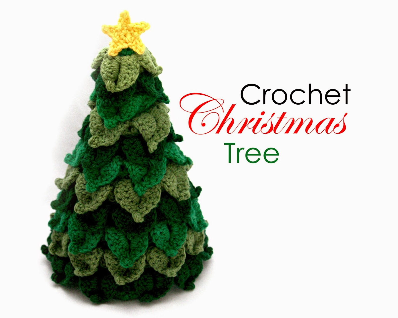 Crochet Pattern For Xmas Tree : Little Abbee: O Crochet Christmas Tree! Crochet TUTORIAL