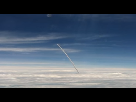You would have seen visuals of countless rockets blasting into space - soaring into the sky and getting out of your sight.  This video shot from a plane extends what you see substantially.