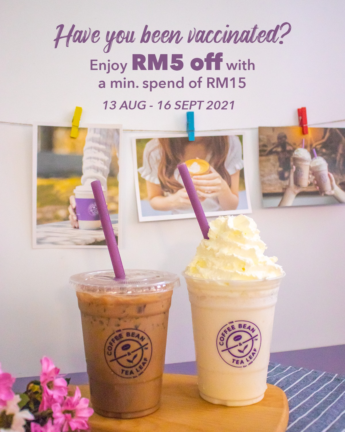 Got Your Jab? Get Your Discount from The Coffee Bean & Tea Leaf!