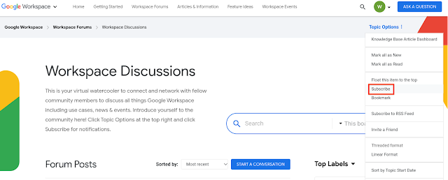 Launching a new online community for Google Workspace admins 1