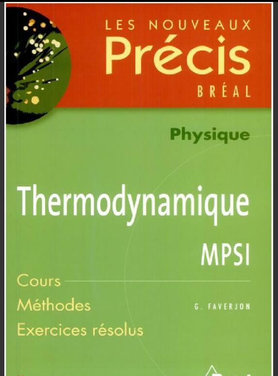 Livre Precis physique Thermodynamique MPSI PDF