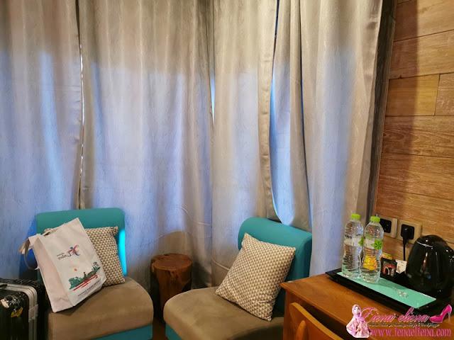 Bilik Deluxe Double atau Twin dengan Balkoni di Balkondes Ngadiharjo Guesthouse