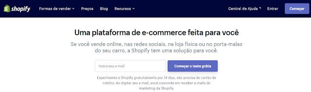 como montar uma loja virtual shopify