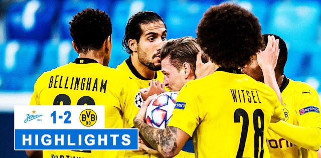 Zenit vs Borussia Dortmund – Highlights