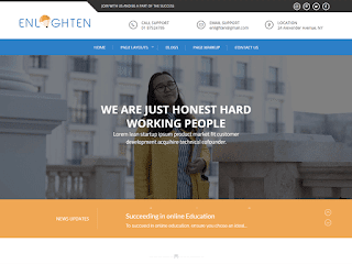 WordPress Education Theme – Enlighten