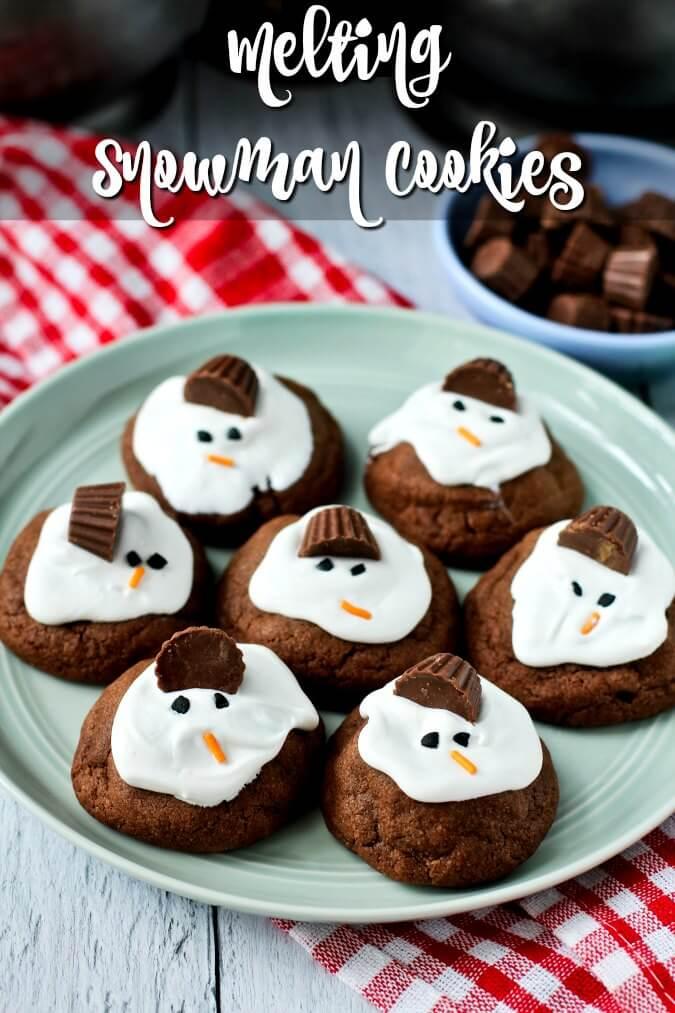 Chocolaty Melting Snowman Cookies