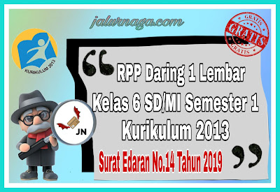 RPP Daring 1 Lembar Kelas 6 Semester 1