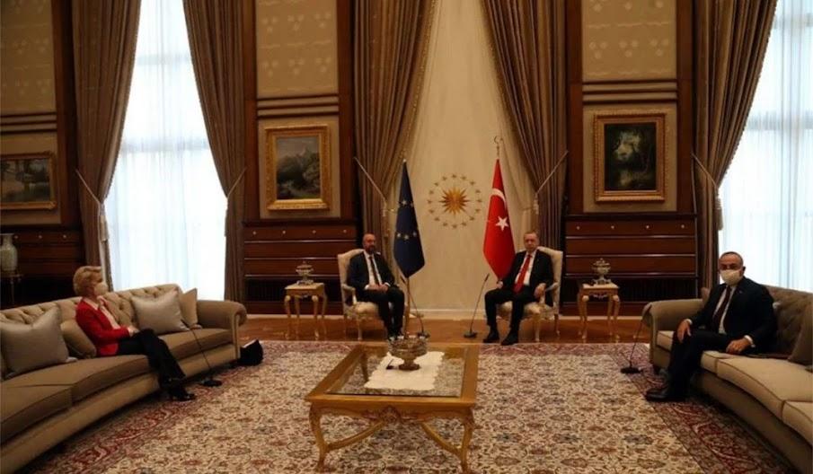 Sofa-gate ή πως ο Ερντογάν ταπείνωσε την Ευρώπη