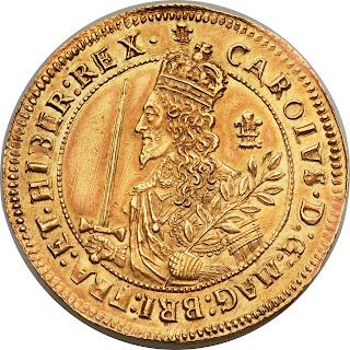 British Gold Coins Triple Unite 1644 King Charles I of England