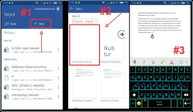 Cara Mengetik Microsoft  Word Di HP Android
