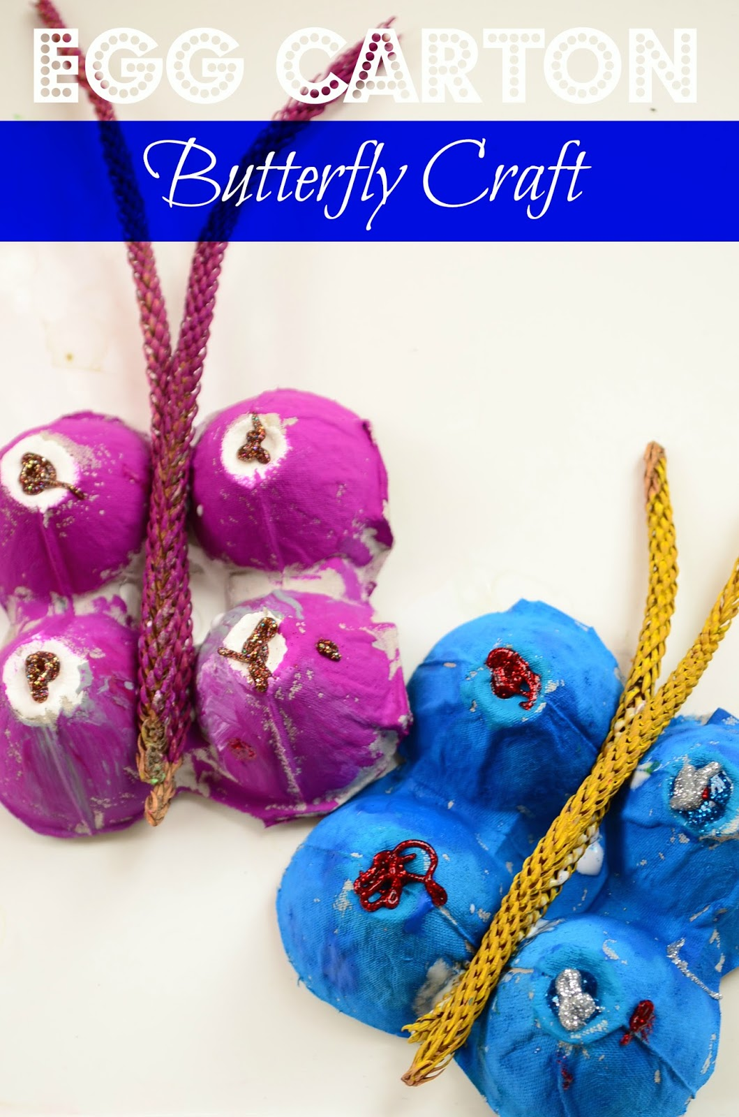 The Practical Mom: Easy Peasy Egg Carton Butterflies