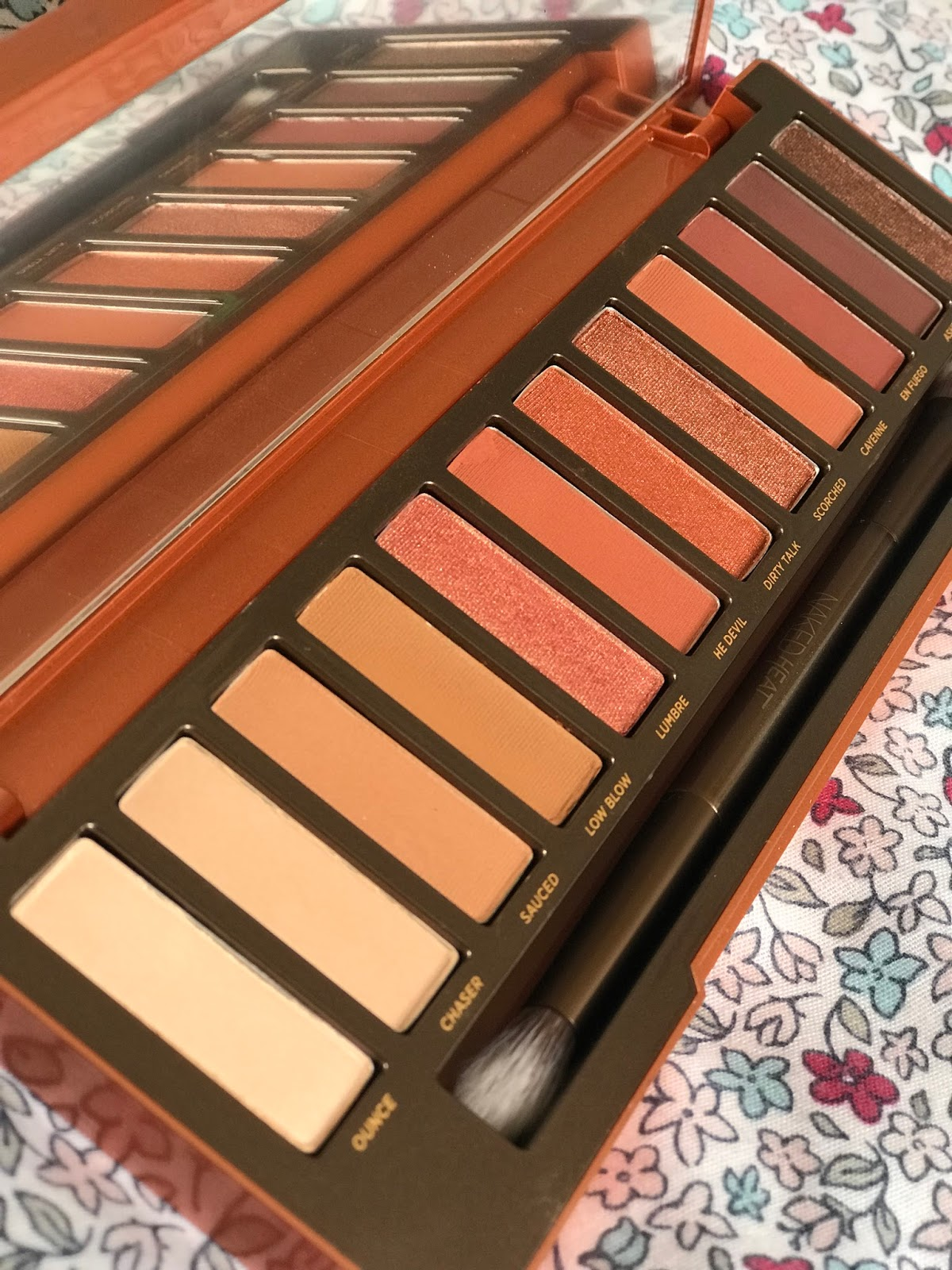 urban decay naked heat swatch blog