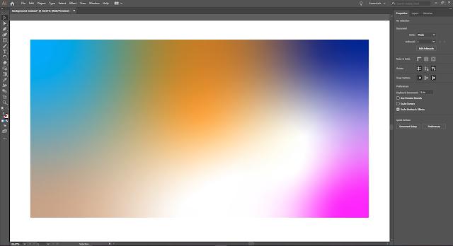 Cara Membuat Background Gradasi Warna di Adobe Illustrator 2019