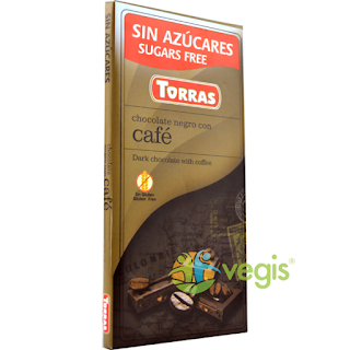 Ciocolata neagra cu cafea fara zahar si fara gluten cumpara aici