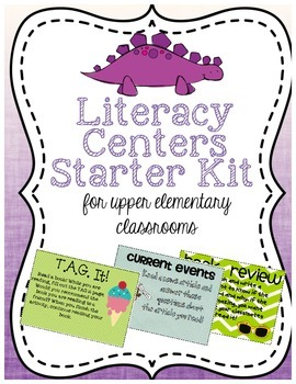http://www.teacherspayteachers.com/Product/Reading-and-Literacy-Centers-for-Upper-Elementary-Starter-Kit-with-Signs-1303127