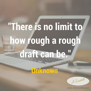 There is no limit to how rough a rough draft can be.~Unknown #NaNoWriMo2016 #amwriting #quote