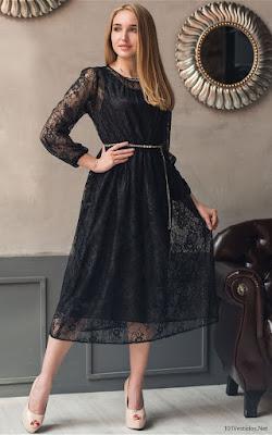 Vestidos con Encaje Negro