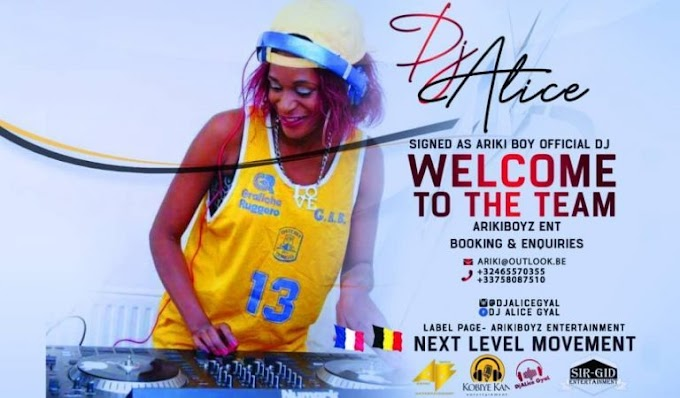 "Kobiye Kan and ABE gang presents to you their new official Dj "" Dj Alice"