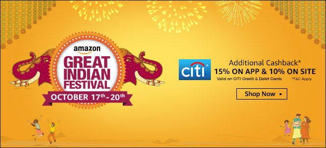 Amazon Great Indian Festival Day 1 Blockbuster Deals - 17th October 2016