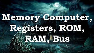 Memory Computer, Registers, ROM, RAM, Bus