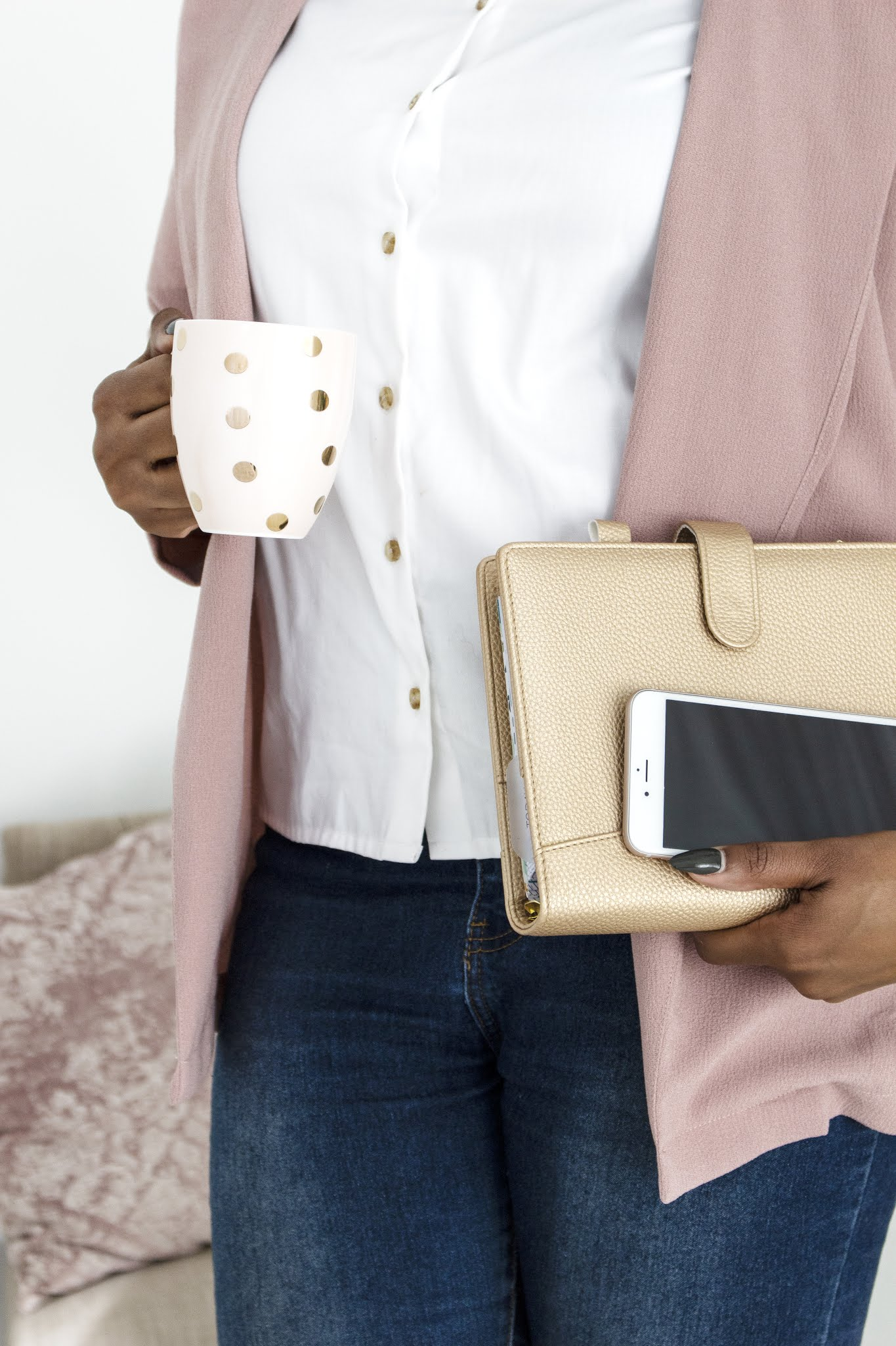 Stock photo from ivorymix of a woman holding a mug